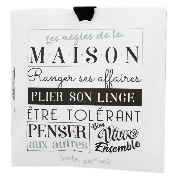 Lysse Côté Maison Sachet Parfumé Linge Frais Les Règles de la Maison 10g