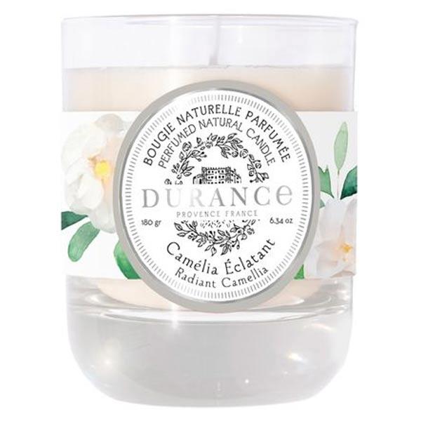 Durance Camélia Éclatant Bougie Naturelle Parfumée 180g
