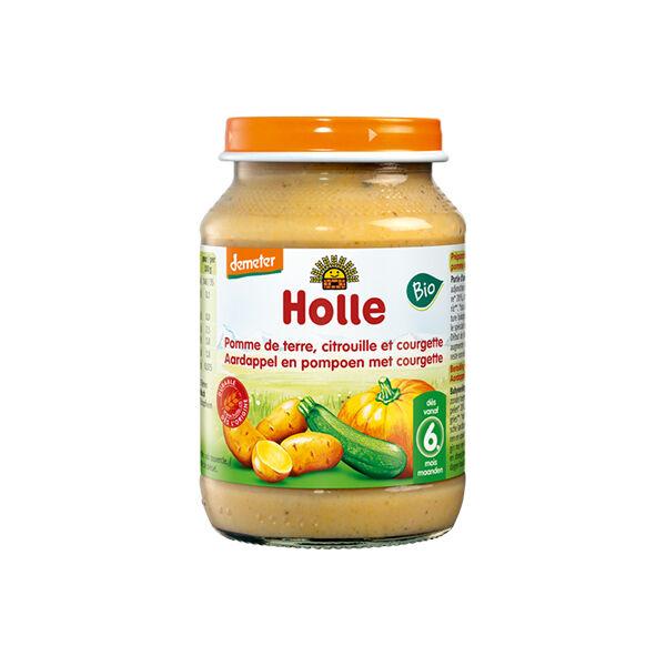 Holle Petit Pot Pomme de Terre Citrouille Courgette Bio +6m 190g