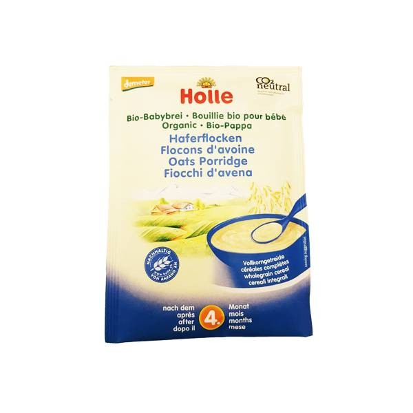 Holle Bouillie Flocons d'Avoine Bio +4m 250g