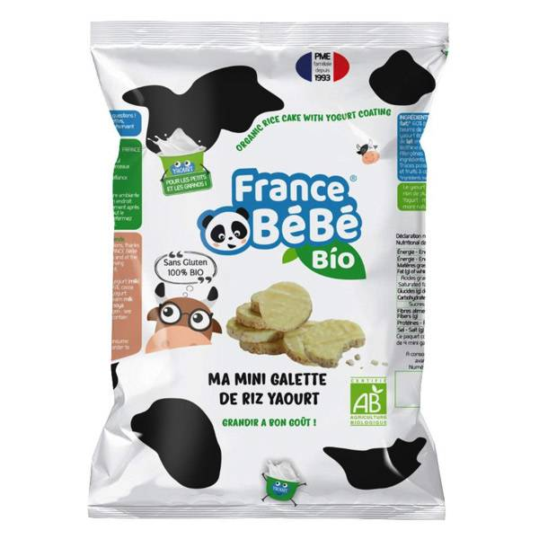 France Bébé Nutrition France Bébé Bio Mini Galette de Riz Nappée Yaourt 84g
