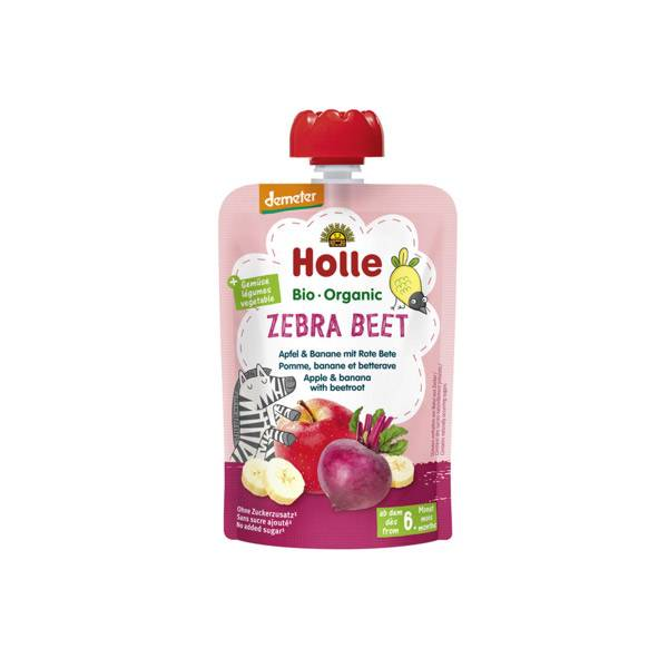 Holle Gourde Pouchy Pomme Banane Betterave Rouge Bio +6m 100g
