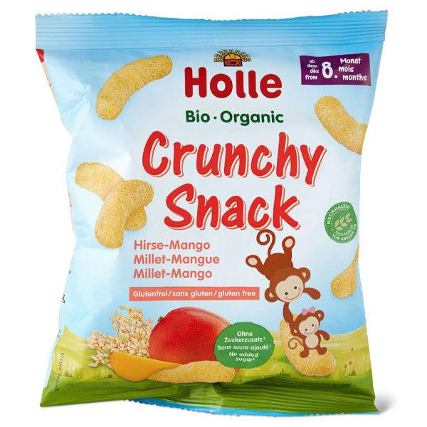 Holle Crunchy Snack Millet Mangue Sans Gluten +8m Bio 25g