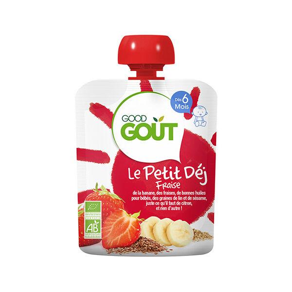 Good Goût Le Petit Dèj Gourde Fraise +6m Bio 70g