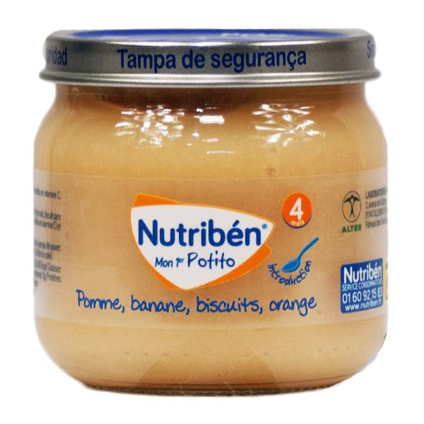Nutriben Mon Premier Potito +4m Pomme Banane Biscuits Orange 120g
