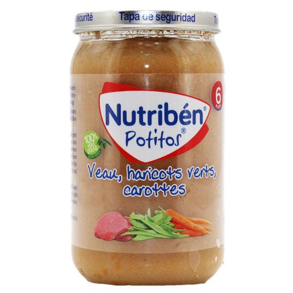 Nutriben Potitos +6m Veau Haricots Verts Carottes 235g