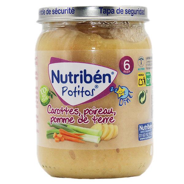 Nutriben Potitos Carottes Poireaux Pomme de Terre +6m 190g