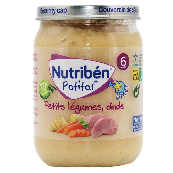 Nutriben Potitos Petits Légumes Dinde +6m 190g