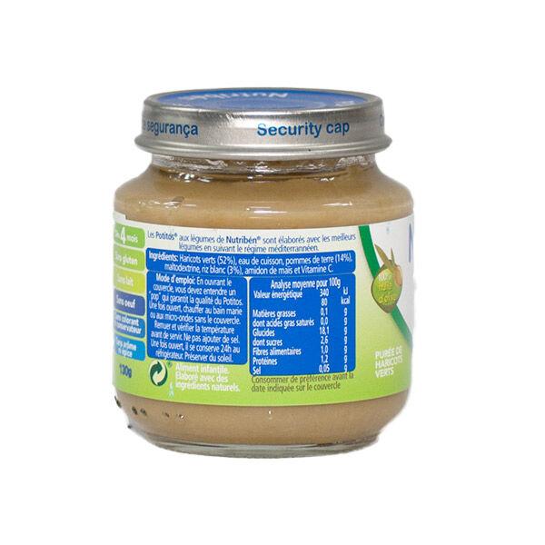 Nutriben Nutribén Mon Premier Potito Purée de Haricots Verts +4m 130g