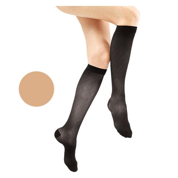 Gibaud Venactif Reflets de Teint Chaussettes Classe 2 Long Taille 3 Naturel