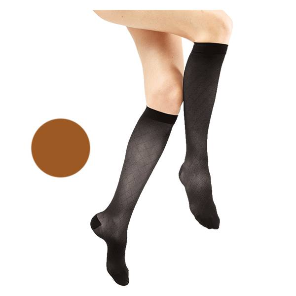 Gibaud Venactif Reflets de Teint Chaussettes Classe 2 Long Taille 3 Cuivré