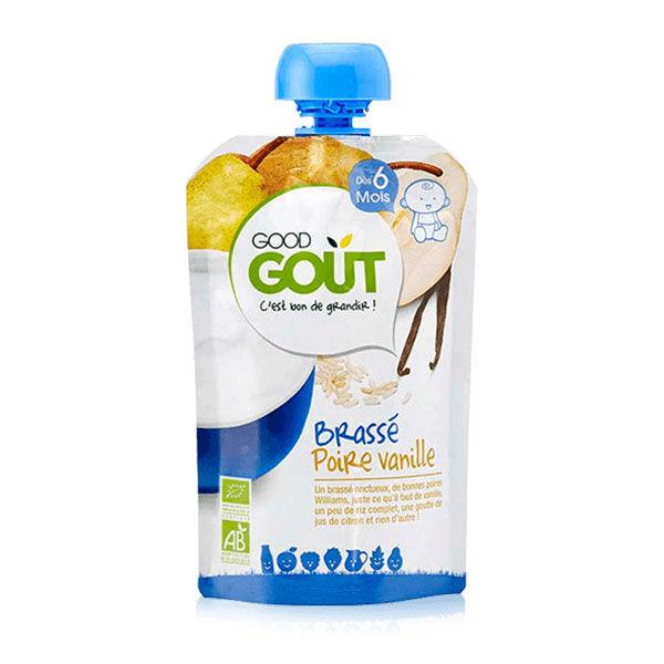 Good Goût Gourde Brassé Poire Vanille +6m Bio 90g