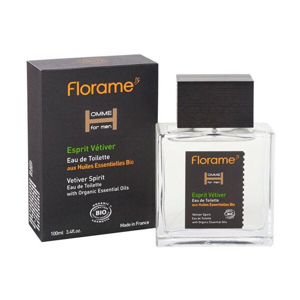 Florame Parfum Eau de Toilette Vetiver Bio 100ml