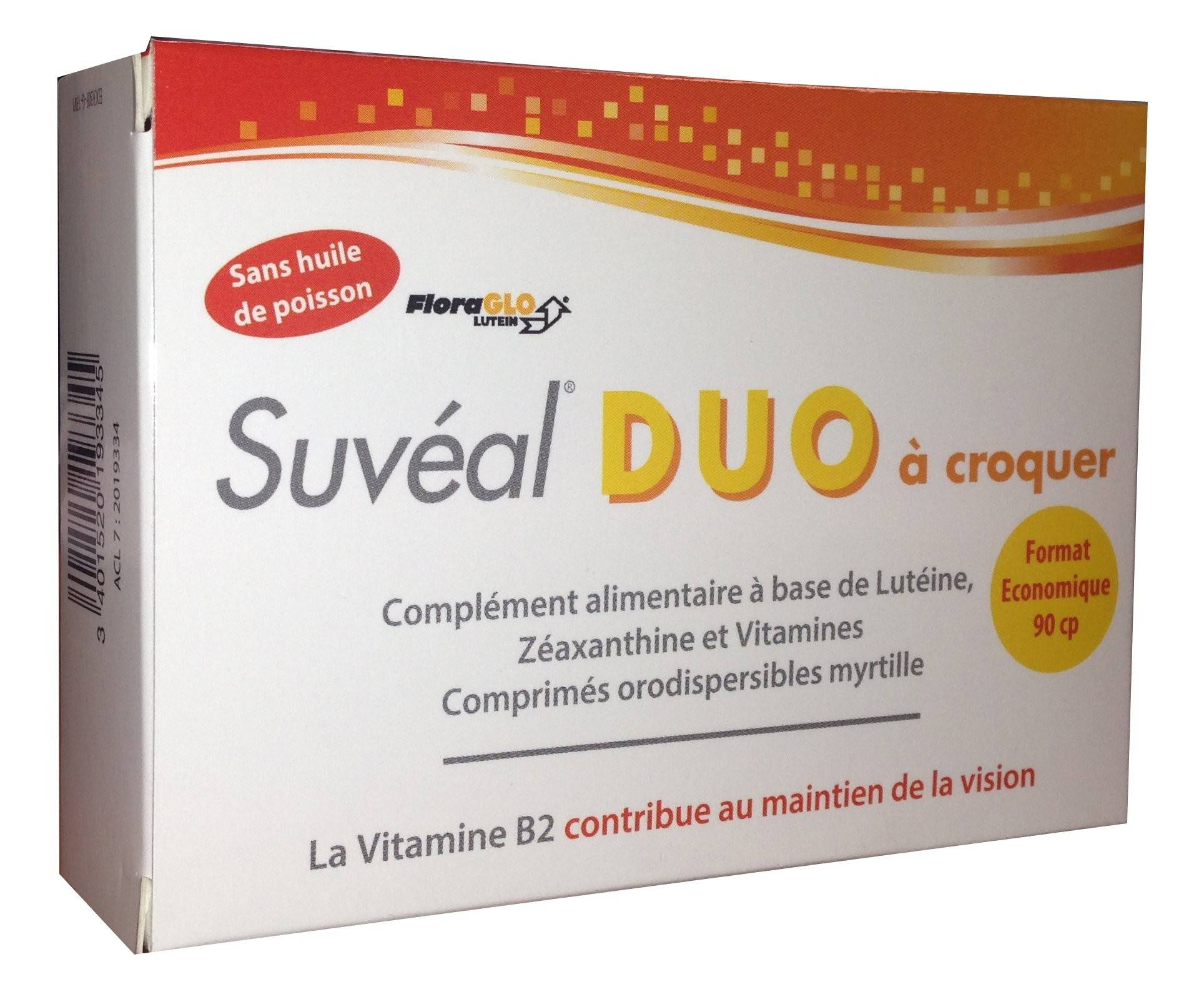 Densmore Suvéal Duo à croquer 90 comprimés