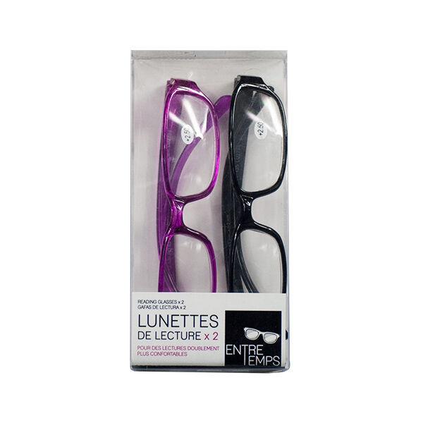 Lysse Optique Lunettes de Lecture Rose et Noire +2.50
