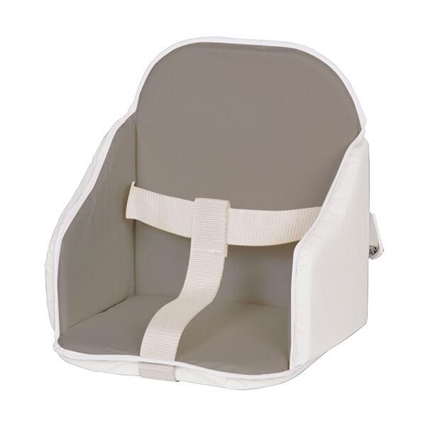 Candide Coussin de Chaise Bordé à Sangles Gris/Blanc