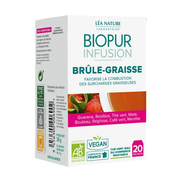 Biopur Infusion Brûle-Graisse 20 sachets