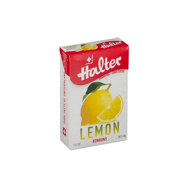 Halter Bonbon Suisse Sans Sucre Citron 40g