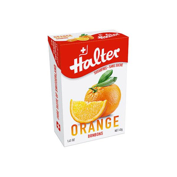 Halter Bonbon Suisse Sans Sucre Orange 40g