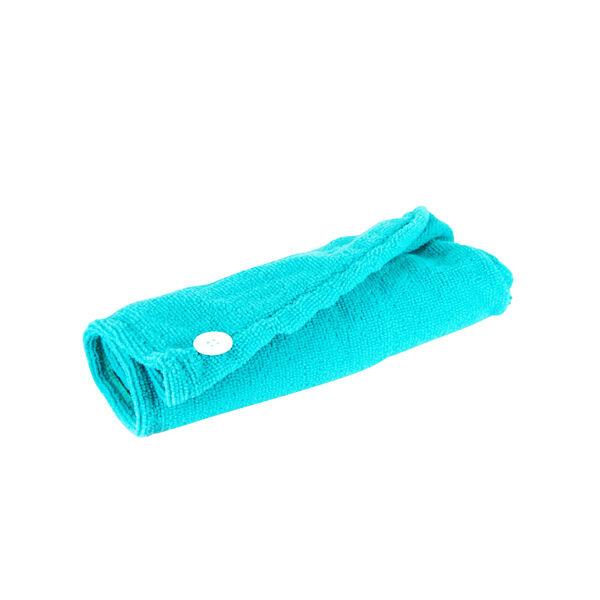 Lysse Capillaire Serviette Microfibre Cheveux Bleu