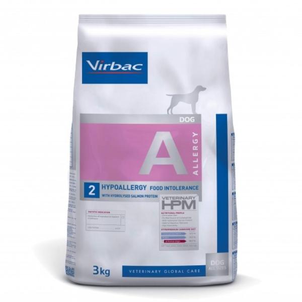 Virbac Veterinary hpm Diet Chien Hypoallergy Food Intolerance Saumon Croquettes 3kg