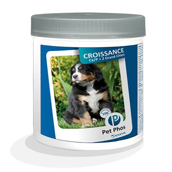 Pet Phos Croissance CA/P2 G Chien 100 unités