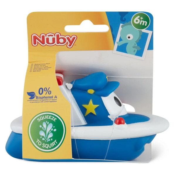 Nuby Jouet de Bain Petit Bateau Bleu +6m
