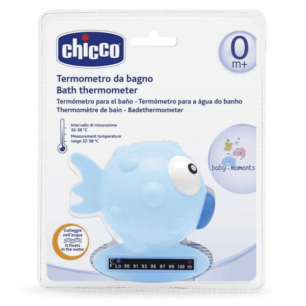 Chicco Thermomètre de Bain Poisson Bleu Bande Thermique 1 unité