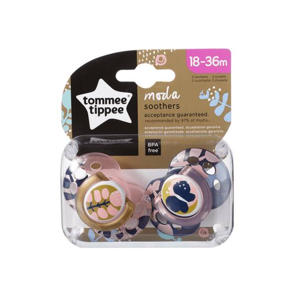 Tommee Tippee Closer To Nature Sucette Moda 18-36m Lot de 2