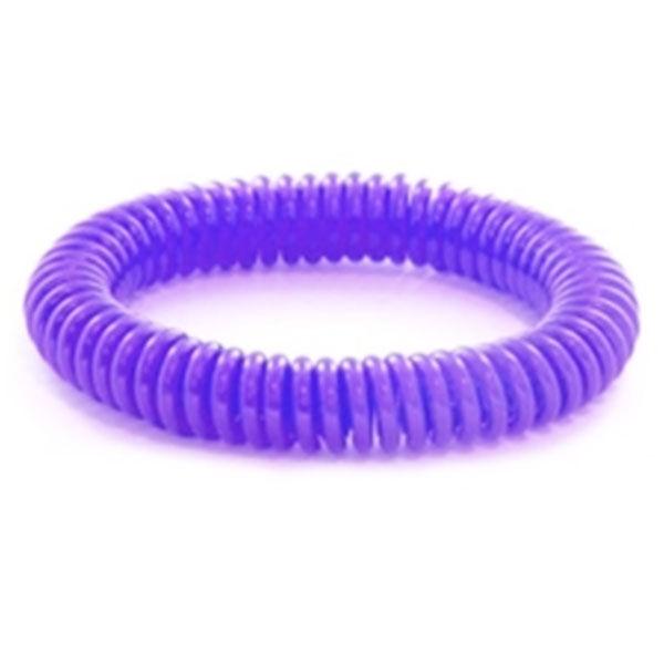 Bracelet Citronnelle à Ressort Silicone Violet
