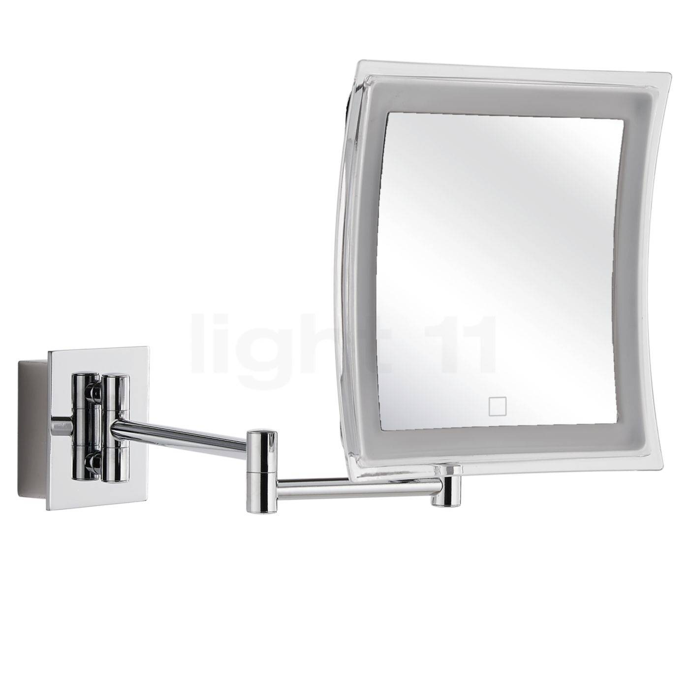 Decor Walther BS 84 Touch Miroir de maquillage mural LED, chrome brillant