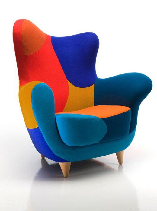 MOROSO fauteuil ALESSANDRA LOS MUEBLES AMOROSOS (Couleurs vives version A - Divina 3 / Tonus)
