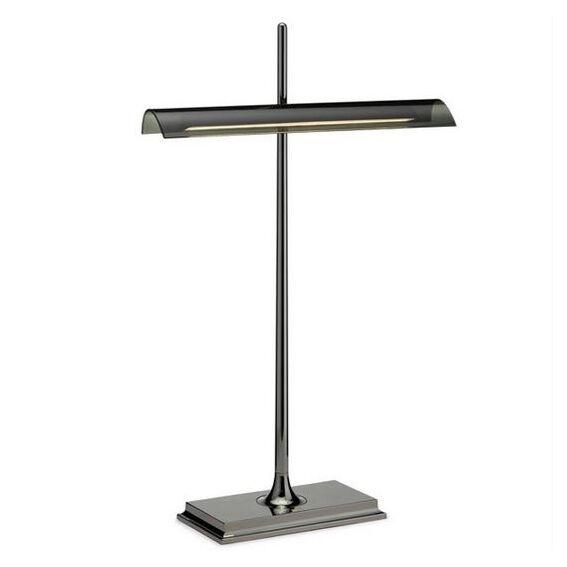 FLOS lampe de table GOLDMAN (Corps nickel noir, diffuseur fumé - Aluminium et méthacrylate)