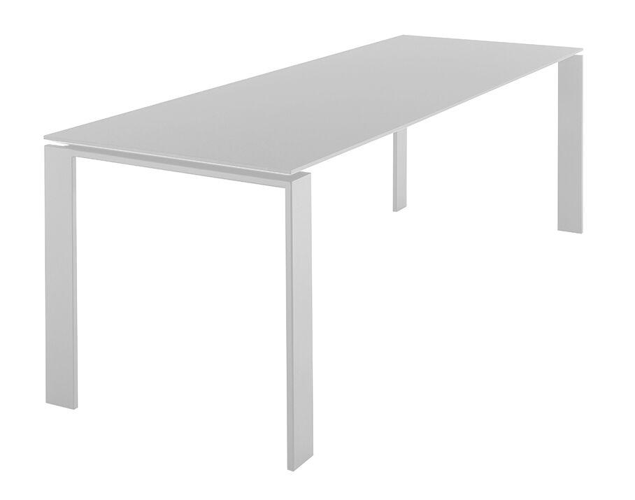 KARTELL table FOUR SOFT TOUCH 223x79xH72 cm (Plateau blanc - Pieds blanc - Plateau en laminé soft touch anti-rayures et pieds en acier verni)