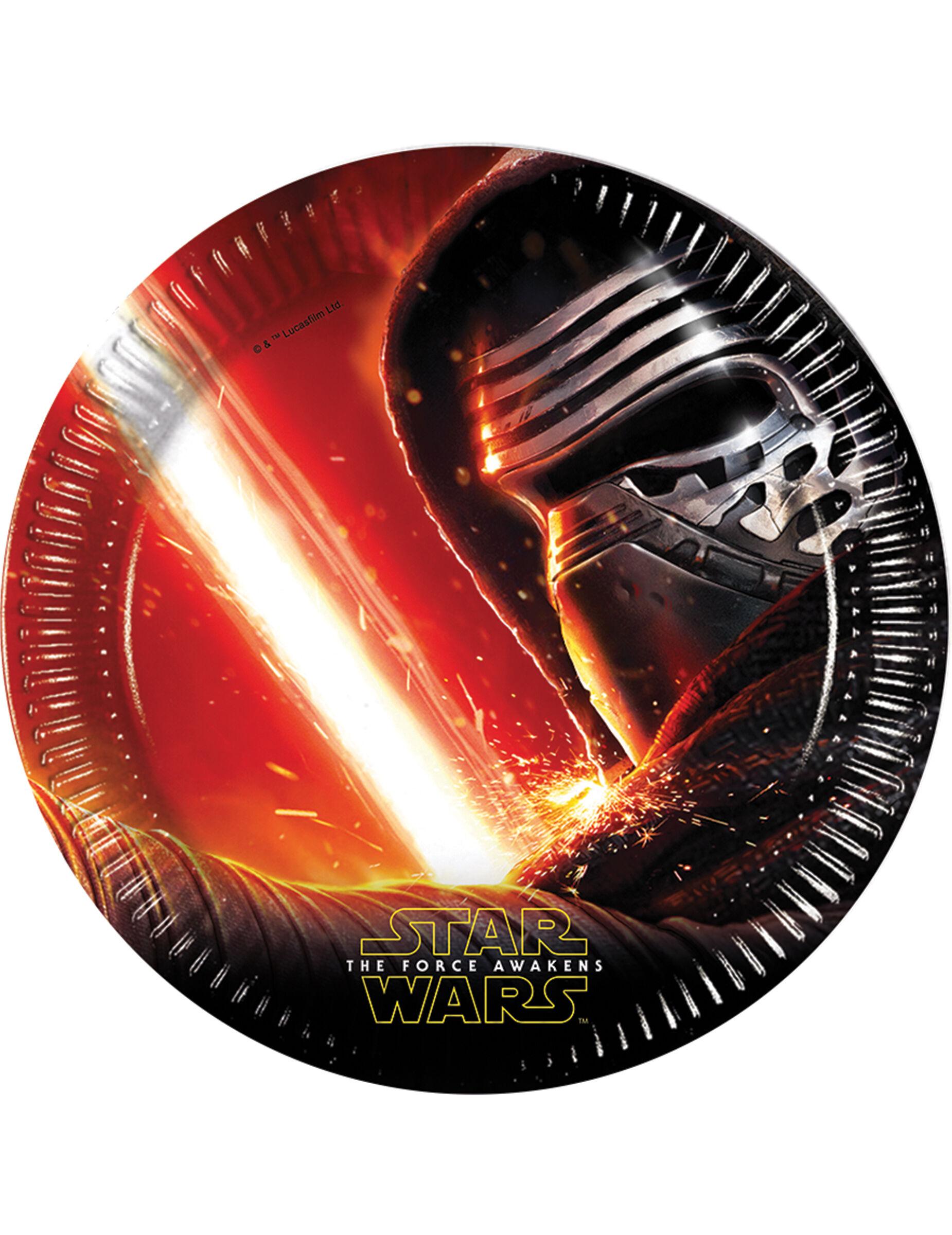 Deguisetoi 8 Assiettes en carton Star Wars VII 22 cm