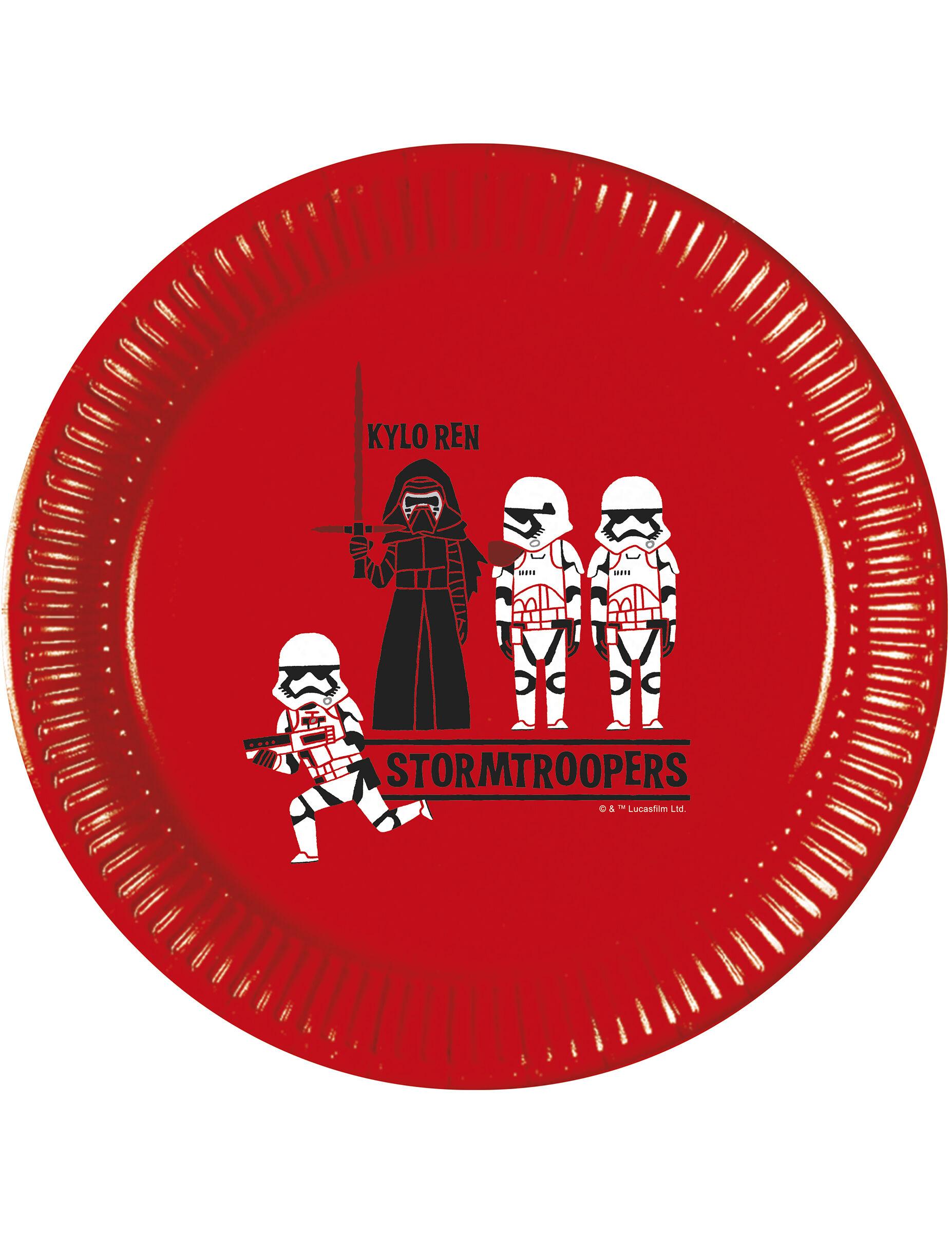 Deguisetoi 8 Assiettesen carton Star Wars Forces 23 cm