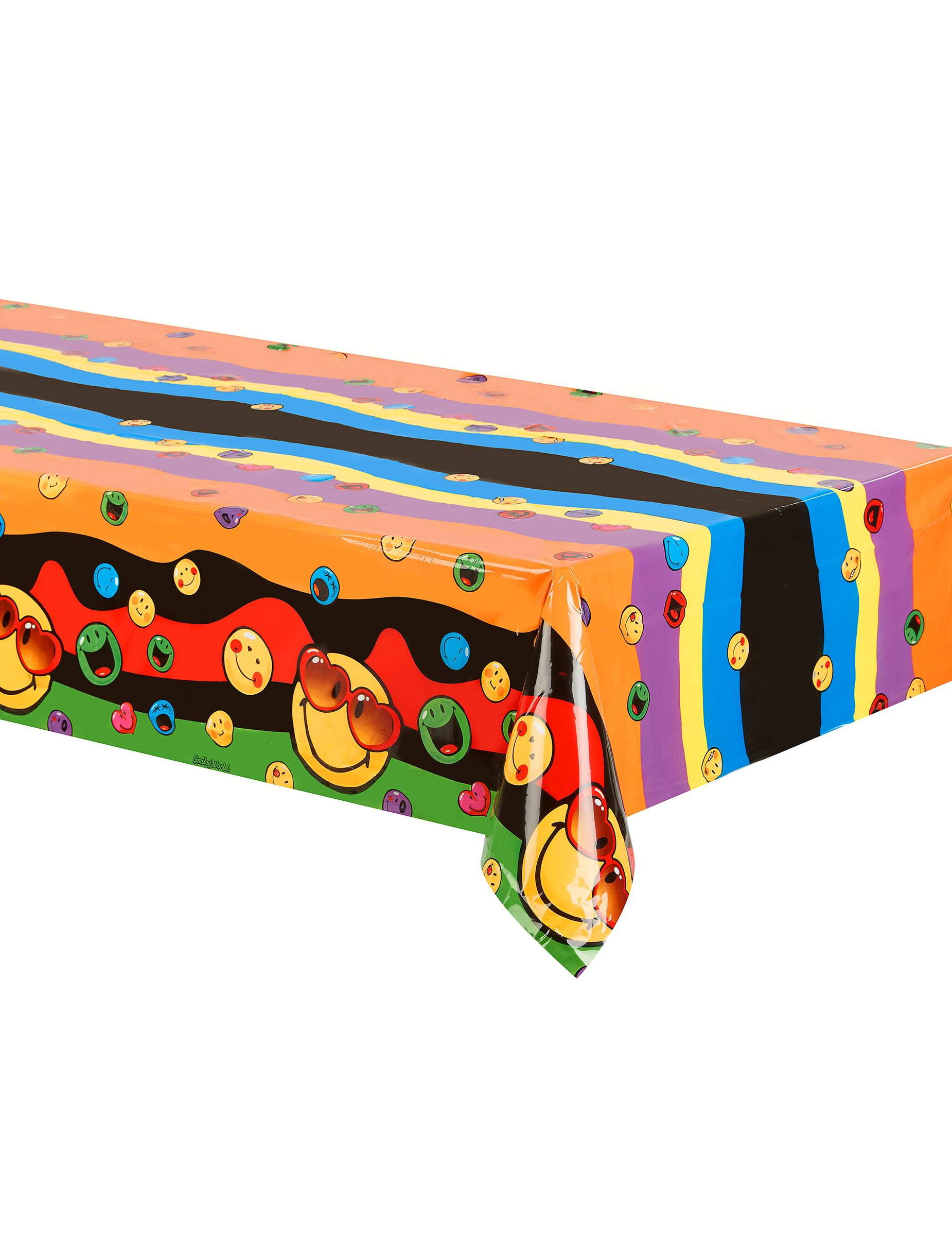 Deguisetoi Nappe en plastique Smiley World 120 x 180 cm