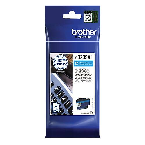 Brother Cartouche jet d'encre Brother D'origine LC3239XLC Cyan