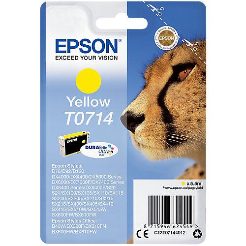 Epson Cartouche jet d'encre Epson D'origine T0714 Jaune C13T07144012