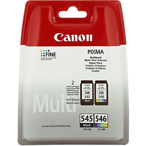 Canon Cartouche jet d'encre Canon D'origine PG-545/CL-546 Noir  Cyan  Magenta  Jaune 2 Unités