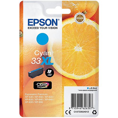 Epson Cartouche jet d'encre Epson D'origine 33XL Cyan C13T33624022
