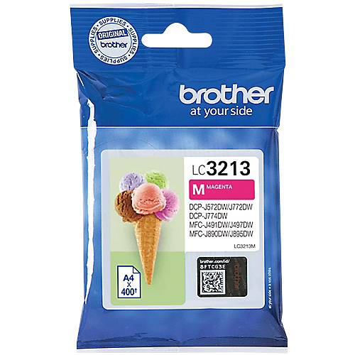 Brother Cartouche jet d'encre Brother D'origine LC3213M Magenta