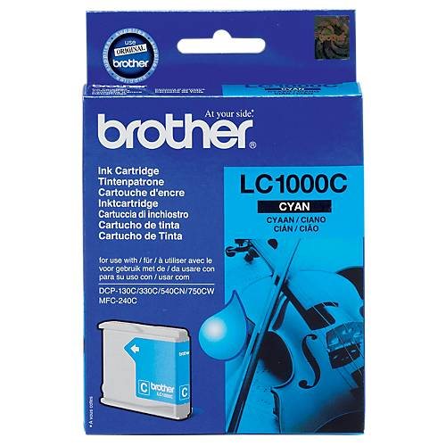 Brother Cartouche jet d'encre Brother D'origine LC1000C Cyan
