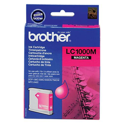Brother Cartouche jet d'encre Brother D'origine LC1000M Magenta