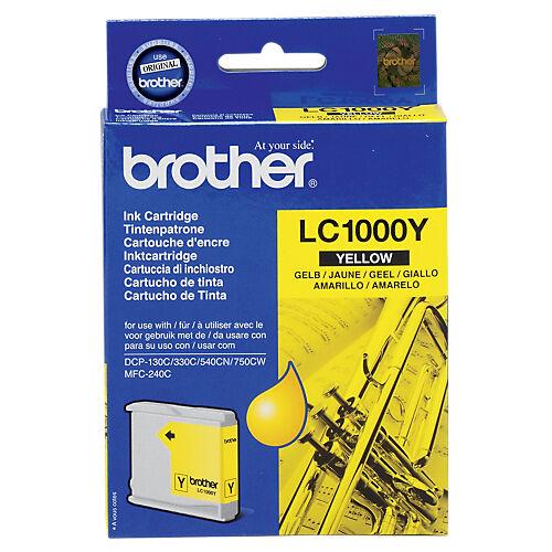 Brother Cartouche jet d'encre Brother D'origine LC1000Y Jaune