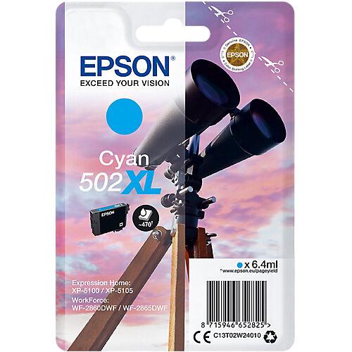 Epson Cartouche jet d'encre Epson D'origine 502XL Cyan C13T02W24010