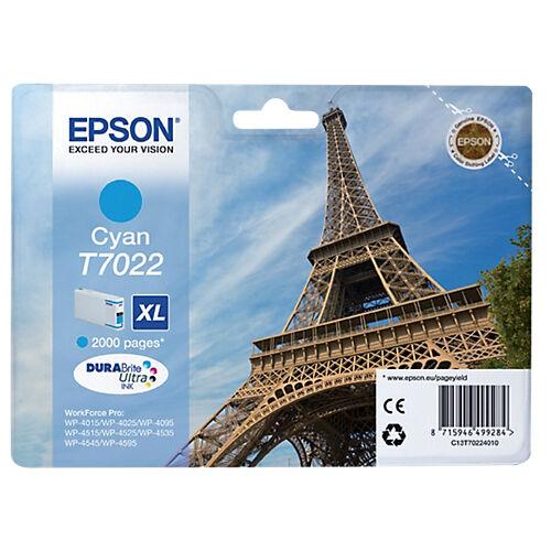 Epson Cartouche jet d'encre Epson D'origine T7022 Cyan C13T70224010