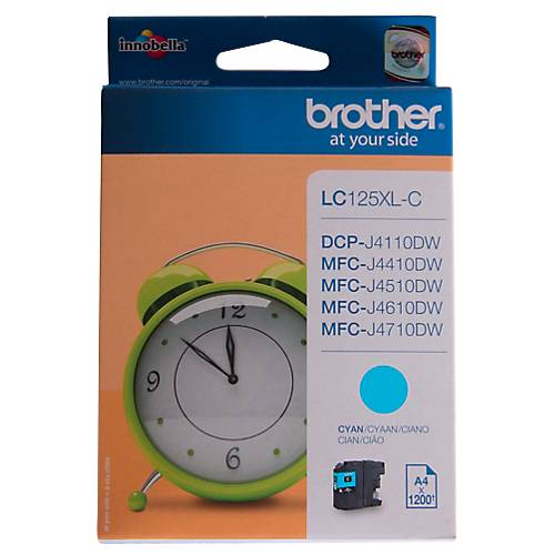 Brother Cartouche jet d'encre Brother D'origine LC125XLC Cyan