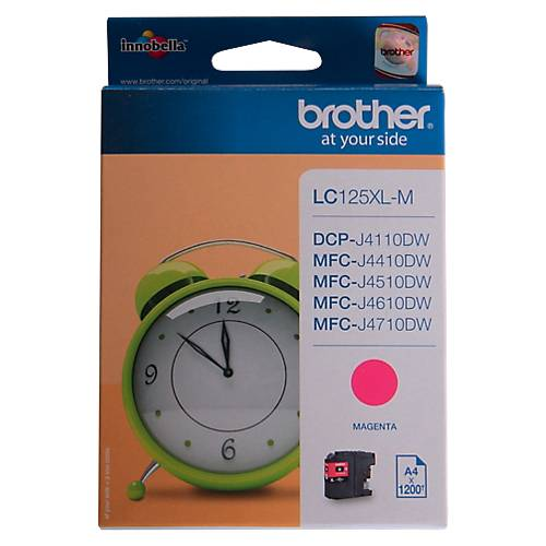 Brother Cartouche jet d'encre Brother D'origine LC125XLM Magenta