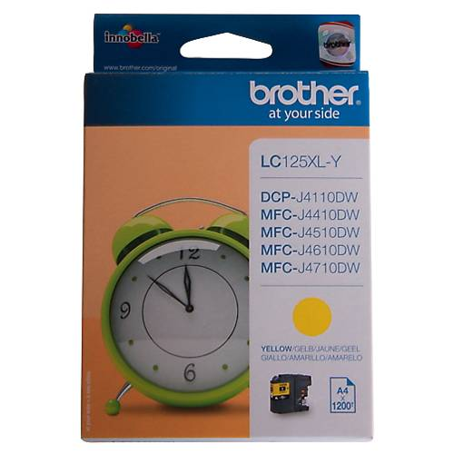 Brother Cartouche jet d'encre Brother D'origine LC125XLY Jaune